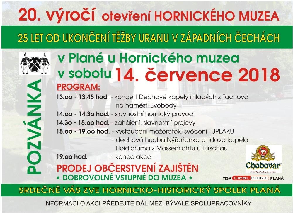 20.výročí otevření Hor. muzea v Plané